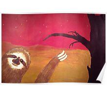 Photobombing Sloth Poster