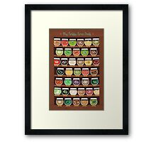 My Spiffy Spice Shelf Framed Print