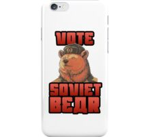 Vote for soviet bear iPhone Case/Skin