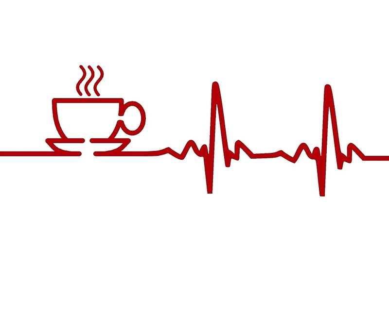 Quot Morning Coffee Heartbeat Ekg Quot Art Prints By Theshirtyurt