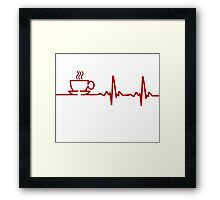 Morning Coffee Heartbeat EKG Framed Print