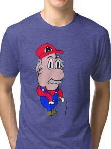 Old Mario Tri-blend T-Shirt