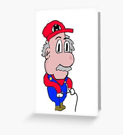 Old Mario Greeting Card