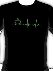 Morning Coffee Heartbeat EKG T-Shirt