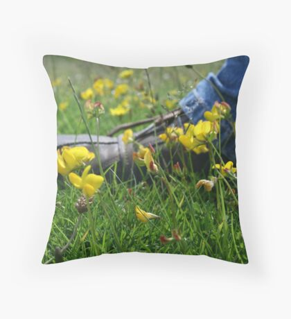 Putting you foot in it... Throw Pillow