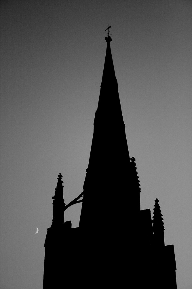 Moon and Spire by Dave Pearson