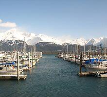 Alaska Seward Bay with Beautiful Mountains by fennam