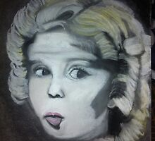 Charcoal drawing of Shirley Temple by Melissa Goza