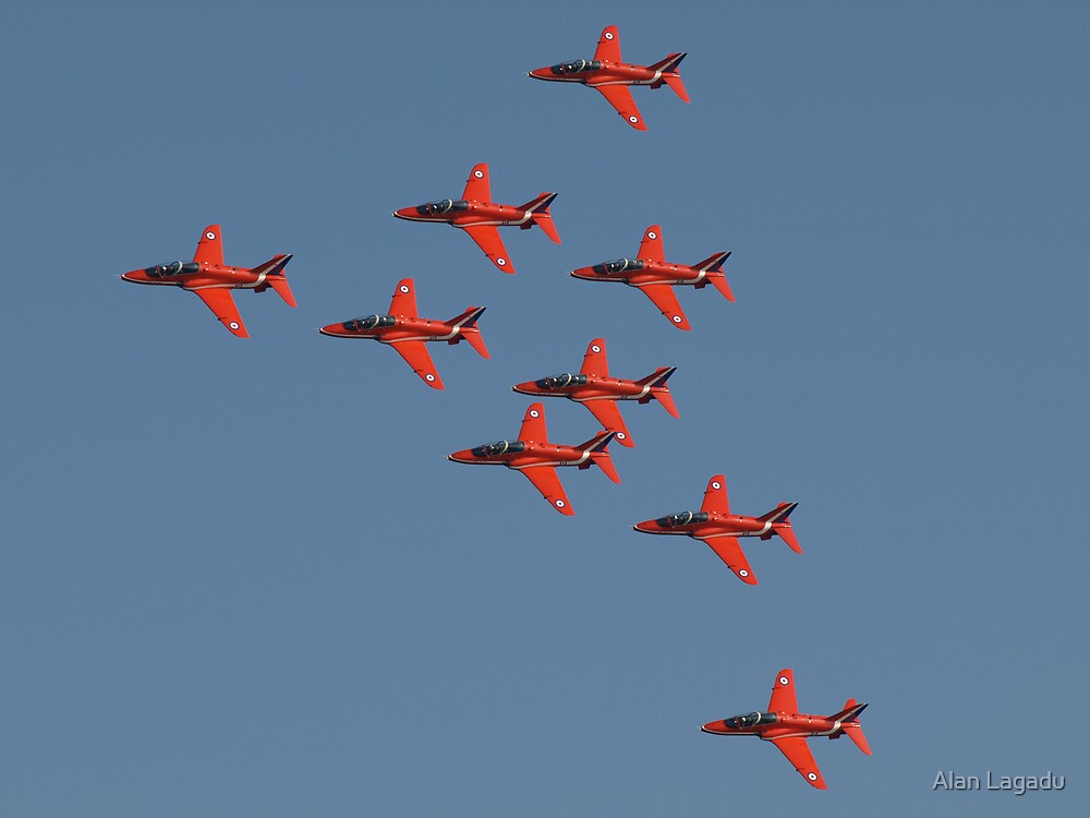 Red Arrows by Alan Lagadu