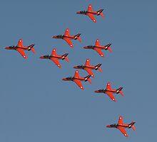 Red Arrows by Alan Lagadu