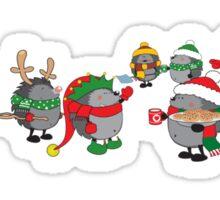 Hedgehog's Christmas magic Sticker