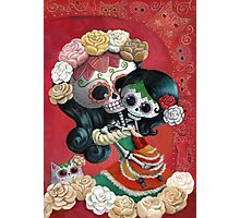 Mexican Skeletons Mother and Daughter Photographic Print