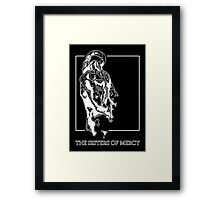 The Sisters Of Mercy - The Worlds End - Back - Black and White Framed Print