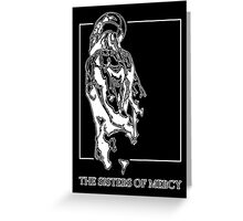 The Sisters Of Mercy - The Worlds End - Back - Black and White Greeting Card