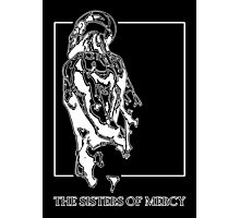 The Sisters Of Mercy - The Worlds End - Back - Black and White Photographic Print