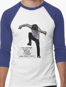 Keep listening to music Men's Baseball ¾ T-Shirt
