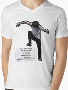 Keep listening to music Mens V-Neck T-Shirt