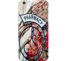 Old vintage Pharmacy sign iPhone Case/Skin