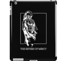 The Sisters Of Mercy - The Worlds End - Back - Black and White iPad Case/Skin