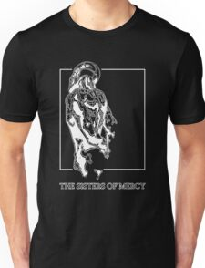 The Sisters Of Mercy - The Worlds End - Back - Black and White Unisex T-Shirt
