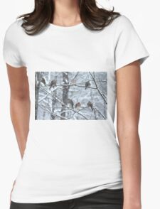 Morning Doves Womens Fitted T-Shirt