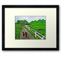 Just a Couple of Asses...Down On Oko's Farm Framed Print