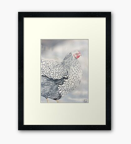 Leeanne's Lacey Chook! Framed Print