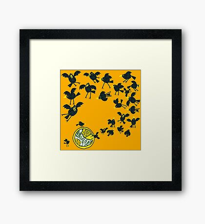 Baked in a pie Framed Print
