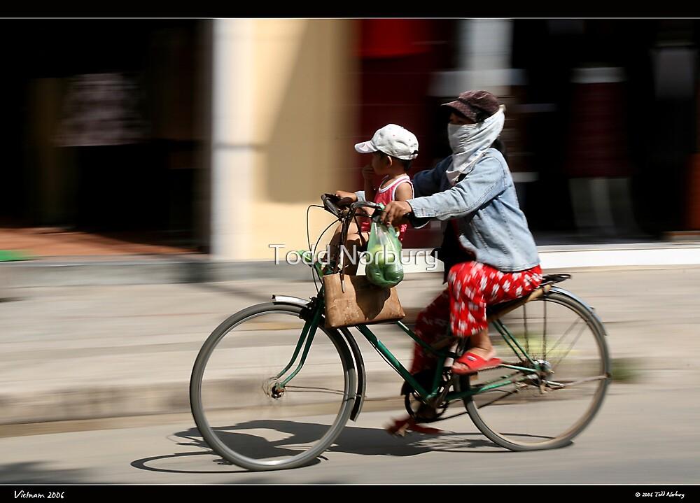 Bub on bike by Todd Norbury