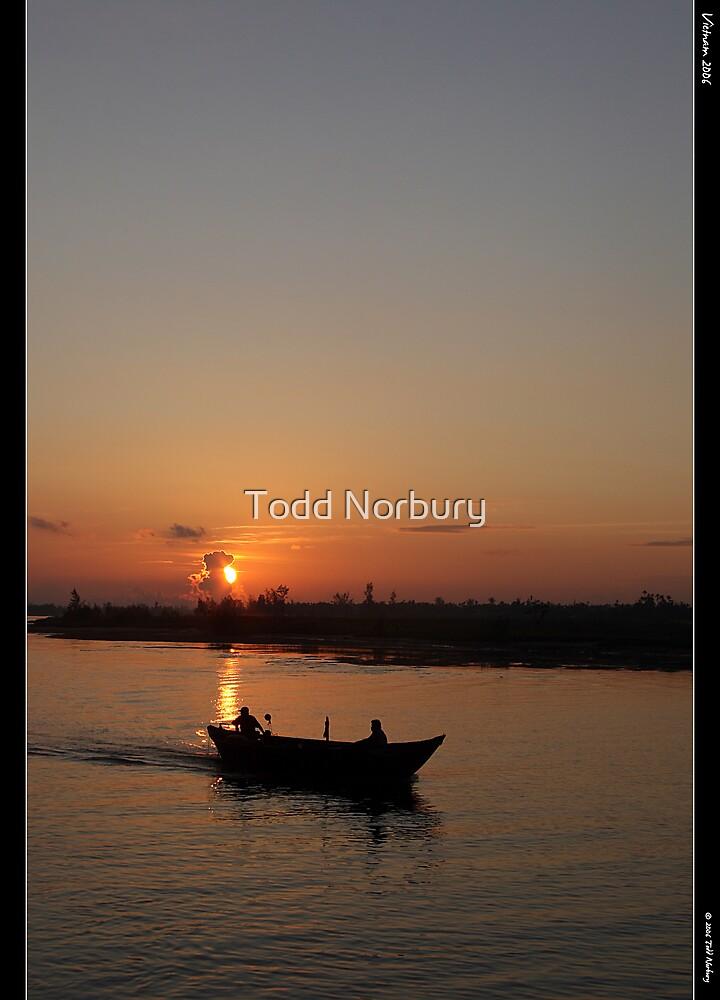 Boatride at Sun up. by Todd Norbury
