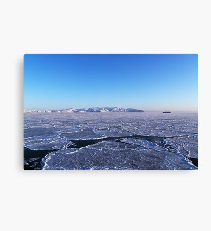 Sky and ice Canvas Print