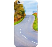 Autumn countryside road  iPhone Case/Skin