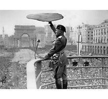 Pizza Mussolini Pizzeria Toss Slice Italy Italian Photographic Print