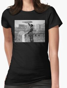 Pizza Mussolini Pizzeria Toss Slice Italy Italian Womens Fitted T-Shirt