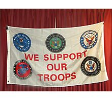 MERRY CHRISTMAS TO ALL OF OUR TROOPS.... Photographic Print