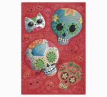 Colourful Sugar Skulls Kids Clothes