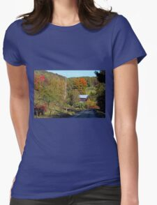 FENCE LINE Womens Fitted T-Shirt