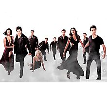 The Vampire Diaries Cast Photographic Print