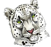 """Snow Leopard"" by Winterberry  Farm Studio"