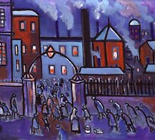 Going to work (from my original acrylic painting) by sword