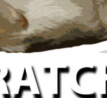 Scratches Please!! Sticker