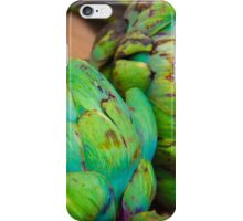 Closeup on Fresh green artichokes in the market, organic vegetables background iPhone Case/Skin