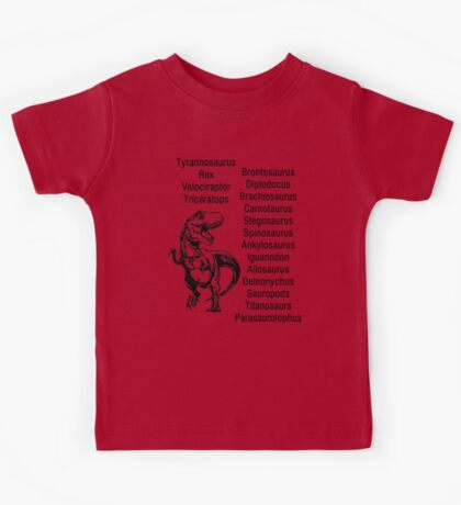 Dinosaur Names Kids Dinosaur Shirt Paleontologist Gifts Kids Tee
