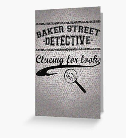 Baker Street Detective (Black) Greeting Card