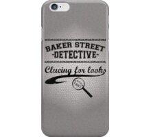 Baker Street Detective (Black) iPhone Case/Skin