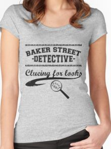 Baker Street Detective (Black) Women's Fitted Scoop T-Shirt