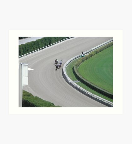 at the horse races 3 Art Print