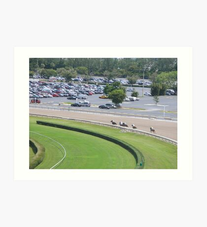 at the horse races 6 Art Print