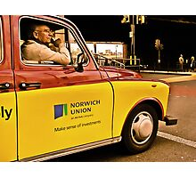 a cab in london Photographic Print