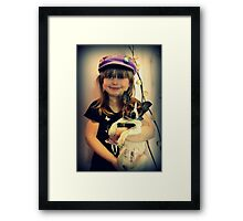 Portrait ~ Girl And Dog ~ Framed Print
